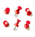 collection of various red pushpins vector image