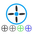Drone screw flat icon vector image