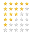 Five stars ratings vector image