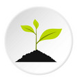 green sprout icon circle vector image
