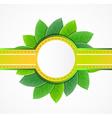 leaf label vector image