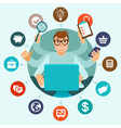 self employment concept in flat style vector image