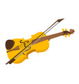 violin with bow cartoon vector image