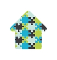 puzzle jigsaw game figure icon graphic vector image