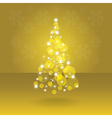 Shiny abstract christmas tree vector image
