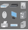 Set of nine computer-tematic icons vector image vector image