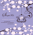 floral invitation card vector image vector image