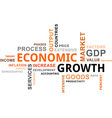word cloud economic growth vector image