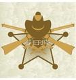 Sheriffs badge-3 vector image