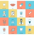 Teeth icons flat vector image vector image