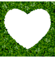 Nature background with heart vector image vector image