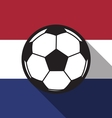 football icon with Netherlands flag vector image