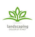 Abstract Logo Leaves Landscaping Ecology Design vector image