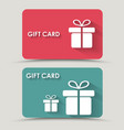 Design gift card vector image