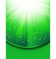 Abstract green stars background vector image