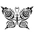 Ornamental butterfly 5 vector image