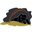 Black panther under the tree eps10 vector image