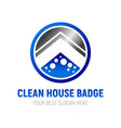 clean house badge symbol design vector image