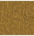 Orange Wave Line Pattern vector image