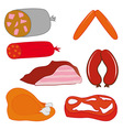 Pork meat and salami vector image