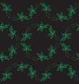 vintage monohrome floral seamless pattern vector image