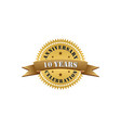 10 years anniversary celebration gold logo vector image