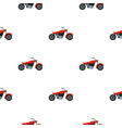 motorcycle pattern flat vector image