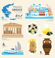 Travel Concept Greece Landmark Flat Icons Design vector image