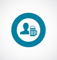 man with beer glass icon bold blue circle border vector image