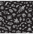 Old School Tattoo Seamless Pattern on Dark vector image
