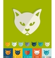 Flat design cat vector image