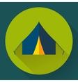 Tourist tent Single icon vector image