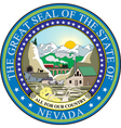 Nevada seal vector image