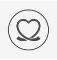 Heart ribbon sign icon Love symbol vector image