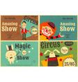 circus poster retro set vector image