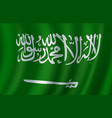 flag of saudi arabia 3d design vector image
