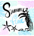 ink hand drawn summertime tropical card vector image