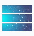 scientific standard size banners geometric vector image