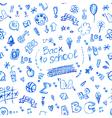 seamless doodle school pattern vector image