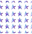 Seamless pattern of Colorful watercolor star icon vector image
