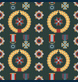 seamless pattern with orders and medals vector image