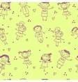 seamless pattern with the image of children vector image