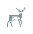 silhouette graphics of a deer with antlers vector image