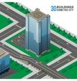 Skyscraper on the street vector image