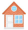Brick house vector image vector image