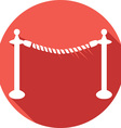 Rope Barrier Icon vector image