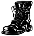 Black army boot vector image