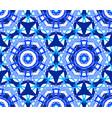 kaleidoscopic lace blue flower ornament vector image