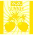 hello summer summer background banner vector image