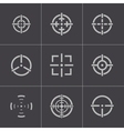 balck crosshair icons set vector image
